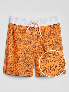 Toddler Print Swim Trunks