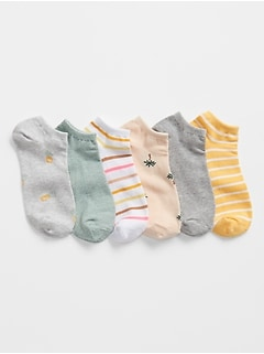 Pattern Ankle Socks (6-Pack)