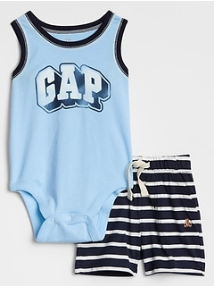 Baby Graphic Tank Bodysuit and Short Set