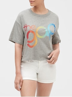 Gap + Pride Cropped Graphic T-Shirt
