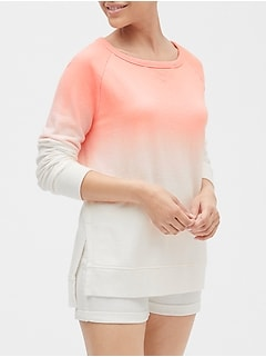 Raglan Sweatshirt Tunic in French Terry