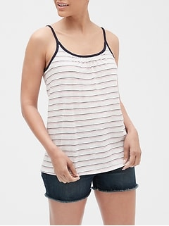 Easy Print Tie-Back Tank Top in Slub