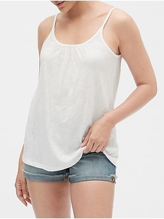 Easy Tie-Front Tank Top in Slub