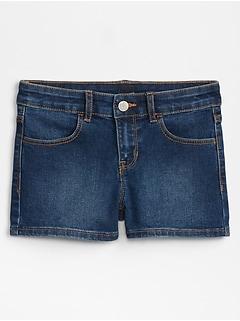 Kids Shortie Shorts in Stretch