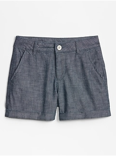 Kids Chambray Midi Shorts