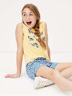 Kids Flippy Sequin Graphic Tank Top in Jersey