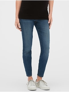 Maternity Full Panel Legging Skimmer Jeans