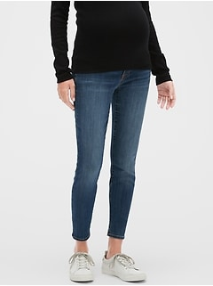 Maternity Demi Panel Legging Skimmer Jeans