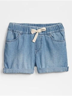 Toddler Pull-On Denim Shorts