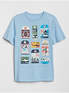 Kids Crewneck Graphic T-Shirt in Jersey