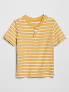 Toddler Henley Stripe Short Sleeve T-Shirt