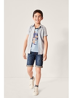 Kids Chambray Short Sleeve Shirt