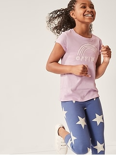Kids Printed Cropped Leggings