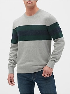 Chest Stripe Crewneck Sweater