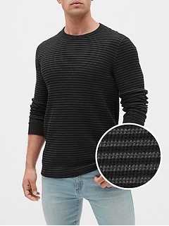 Stripe Crewneck Thermal