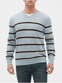 Stripe V-Neck Sweater