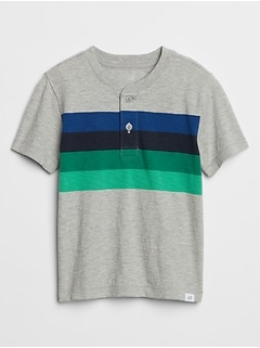 Toddler Chest-Stripe Henley T-Shirt
