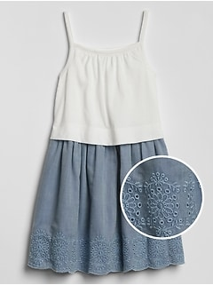 Toddler Ruffle Eyelet Dress