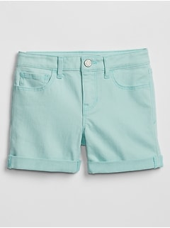 Kids Superdenim Midi Shorts in Color with Fantastiflex