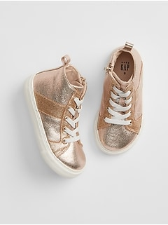 Toddler Metallic Hi-Top Sneakers