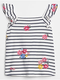 Toddler Print Flutter Tank Top