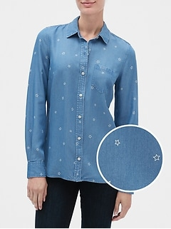 Long Sleeve Print Shirt in TENCEL™
