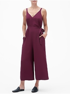 Wide-Leg Crop Jumpsuit