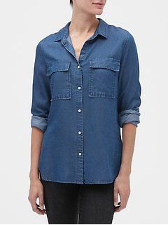 Utility Boyfriend Shirt in TENCEL™