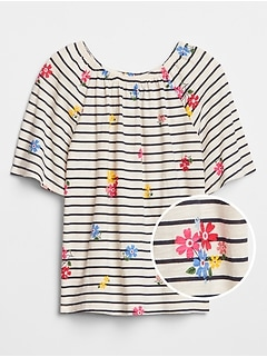 Kids Print Flutter Top