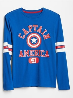 GapKids | Marvel™ Long Sleeve Graphic T-Shirt