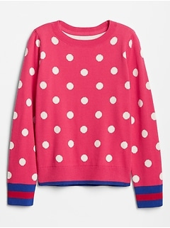 Kids Pattern Pullover Crewneck Sweater