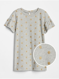 Toddler Print Bell-Sleeve Dress