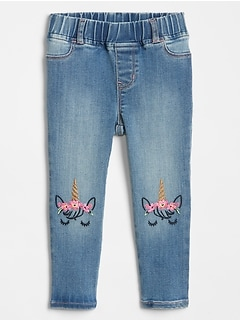 Toddler Unicorn Jeggings With Stretch