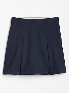 Kids Uniform Skirt in Stretch Twill