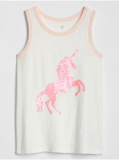 Kids Flippy Sequin Tank Top