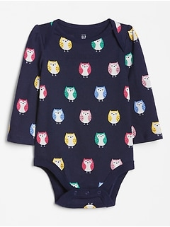 Baby Print Long Sleeve Bodysuit