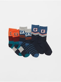 Kids Gap Logo Crew Socks (3-Pack)