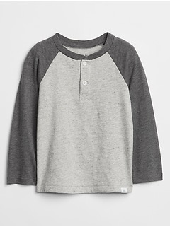Toddler Colorblock Long Sleeve Henley T-Shirt