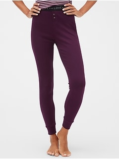 Logo Ribbed Leggings
