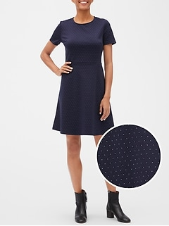 Fit and Flare Dress in Ponte