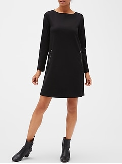 Zip-Pocket Dress in Ponte