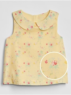 Toddler Floral Flutter Top