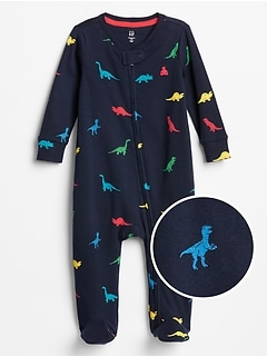 Baby Dino Footed One-Piece