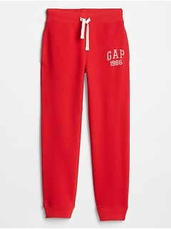 Kids Slim Fit Gap Logo Fleece Pants