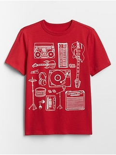 Kids Short Sleeve Graphic T-Shirt