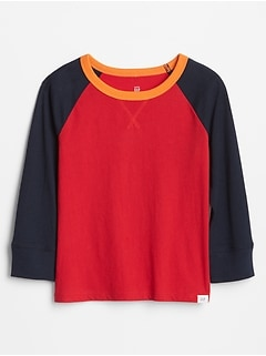 Toddler Colorblock Raglan Long Sleeve T-Shirt