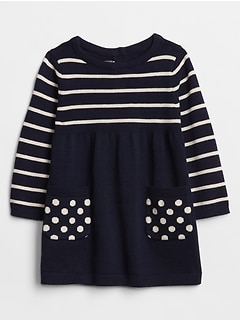 Baby Pattern Sweater Dress