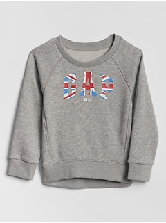 Toddler Raglan Flag Gap Logo Sweatshirt