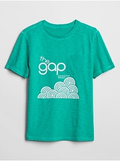 GapKids 50th Anniversary Logo Pocket T-Shirt