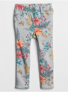 Toddler Floral Jeggings